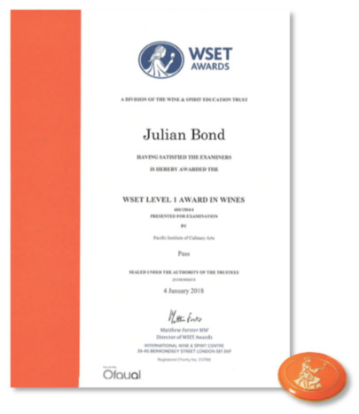 PICA WSET AWARDS